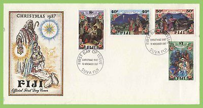 Fiji 1987 Christmas set on First Day Cover