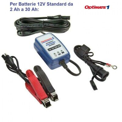 Carica Batteria E Mantenitore Optimate 1 Duo New Piombo Acido Litio 12V