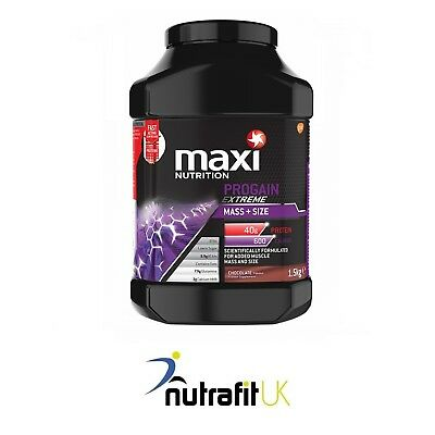 Maxinutrition Progain Extreme Mass + Size 1,5Kg Protein Gainer Strawberry