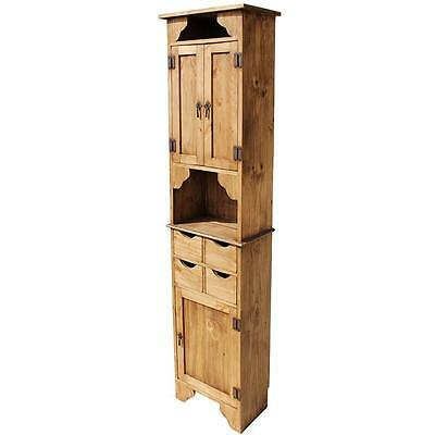 Antique Solid Wood Kitchen Cabinet Storage in Rustic Vintage Country Style New