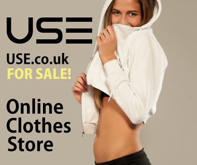 Online Clothes Store & Rare USE.co.uk Website for Sale