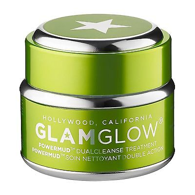 GLAMGLOW POWERMUD DUOCLEANSE TREATMENT 1.7 oz/ 50g ~ FULL SIZE ,,, LARGE NEW