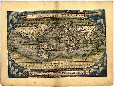 WORLDS FIRST ATLAS 1570 THEATRUM ORBIS TERRARUM antique ABRAHAM ORTELIUS map DVD