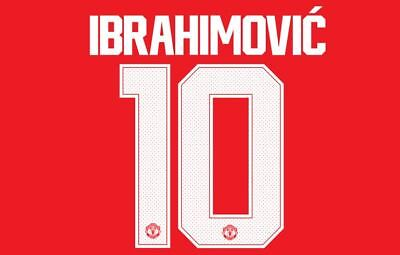 Ibrahimovic #10 Man United 2017-2018 European Cup Home Football Nameset shirt