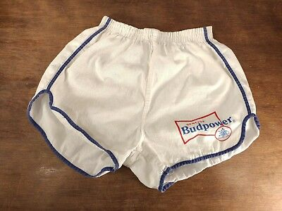 Vintage RARE Budweiser Budpower Gym Shorts Size Large (36-38) Sanforized Cotton