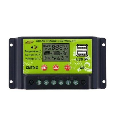 UEIUA CMTD-G2420 20A 12V/24V Solar Charge Controller with LCD Display Intelligen