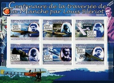 Louis Blériot XI Aircraft Stamp Sheet (English Channel Crossing) / 2009 Guinea