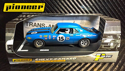Pioneer Slot Car P045 1968 'team Chevy' #15   Blue '12 Hour Enduro Racer'