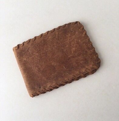 RARE Vintage FROM AMERICAN RED CROSS Brown Leather Wallet (Made In Aust.)