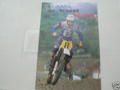Y330 Yamaha Brochure 1984 Yz Motocross Models English 10 Pages Yz490,Yz250,Yz125