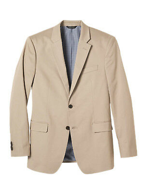 0592 Banana Republic Mens Beige Standard Fit Stretch Chino Blazer Sz 40S Short