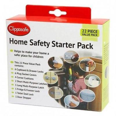 Clippasafe HOME SAFETY UK STARTER PACK (22 PACK) Baby/Toddler Childproofing BN