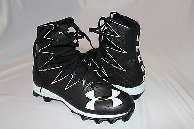 Under Armour Men's Highlight RM Black/White Football ClutchFit Cleat Size 10 US