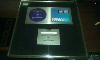 The Best of Wham -  BPI Presentation Disc to recognise 300,000 copies sold 1997