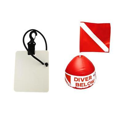 "Diving Scuba Flag with Inflatable Buoy + Underwater Writing Board 6"" x 5"""