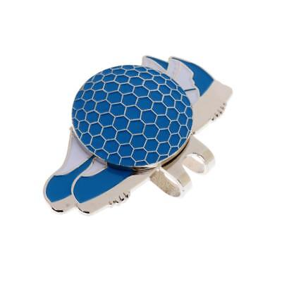 Stainless Steel Creative Shoe Golf Hat Clip with Magnetic Ball Marker Blue