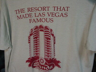 Vintage Sands Resort & Casino The Resort That Made Las Vegas Famous T Shirt SZ S