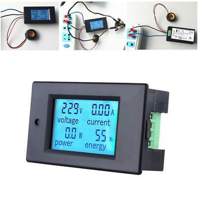 100AAC Digital Power KWh Watt Meter Volt Amp Voltmeter Ammeter Open Close CT