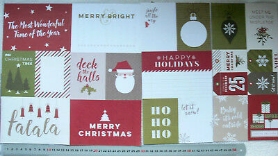 "CHRISTMAS Yuletide PROJECT LIFE inserts - 5 6x4"" - 12 4x3"" & 4 3x2 Tags PPaislee"