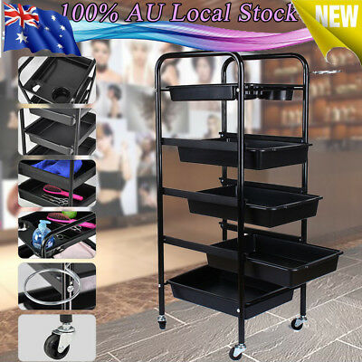 New Beauty Salon Spa Styling Station Trolley Equipment Rolling Storage Tray Cart