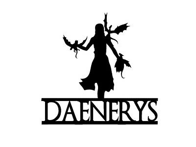 Vinyl Decal Truck Car Sticker Laptop - Game Of Thrones Daenerys Dragons