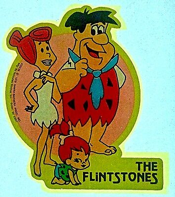 Vintage 1976 The Flintstones by Hanna Barbera Mini Iron-On Transfer Fred Wilma!
