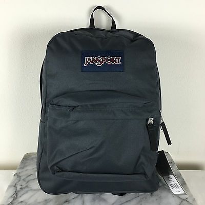 Jansport Superbreak Backpack Forge Grey 100% AUTHENTIC School bags Charcoal Grey