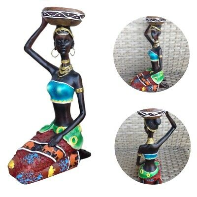 African Woman Beauty Lady Decorative Statue Home Decoration Resin Figurine Craft