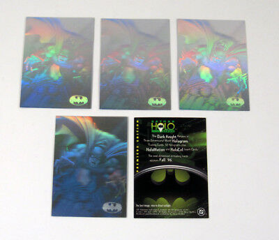 Lot of (5) 1996 Fleer / Skybox Batman Holo Series Promo Card (Unnumbered) Nm/Mt