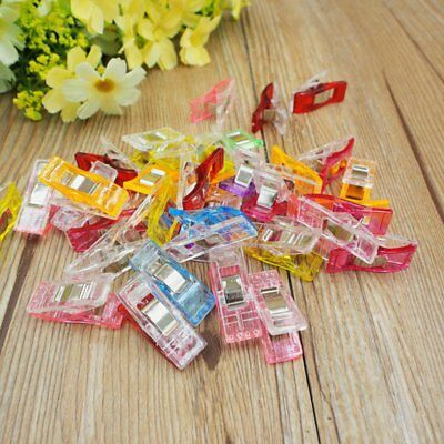 100PCS Pack Clover Wonder Clips for Crafts Quilting Sewing Knitting Crochet