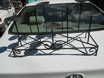 Large Heavy Wrought Iron Candelabra Candle Holder  23x10""