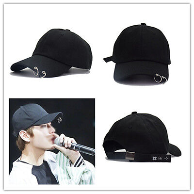 Bangtan Boys Ring Adjustable Baseball Hat KPOP BTS LIVE THE WINGS TOUR Cap Black