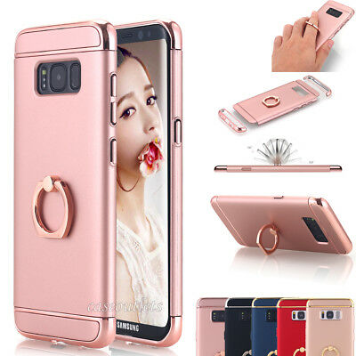 Samsung Galaxy S8/S8+ Phone Case Ring Holder w/ Kickstand Hybrid Slim Hard Cover