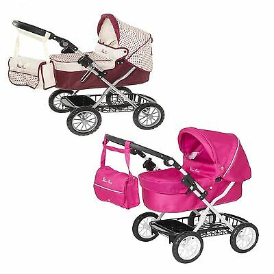 Silver Cross Ranger Junior Dolls Pram with Adjustable Handle Pink New