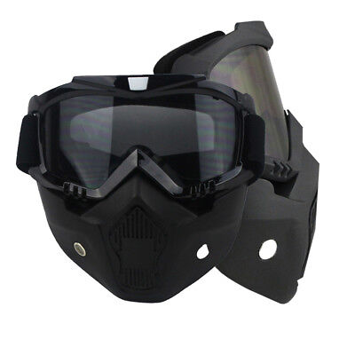 Motorcycle Riding Helmet Goggles Shield Nose Face Mask For Moto Helmets