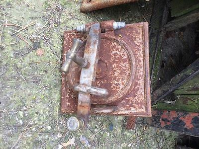 Vintage Cast iron fire door clay / bread oven / pizza stove / smoker- square