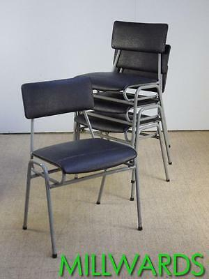 50 AVAILABLE Vintage Stacking Industrial Remploy School Cafe Bar Chairs incVAT