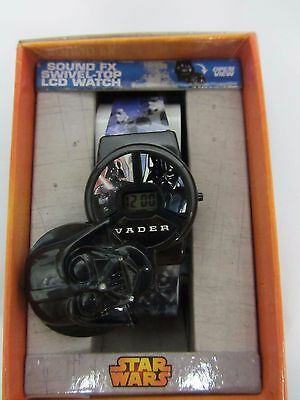 NEW! DISNEY STAR WARS LCD Watch Makes Sound Youth  Boy, Girl,  FAST SHIPPING