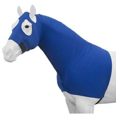 Tough-1 100% Spandex Mane Stay Hood with Full Zipper Small Royal Blue