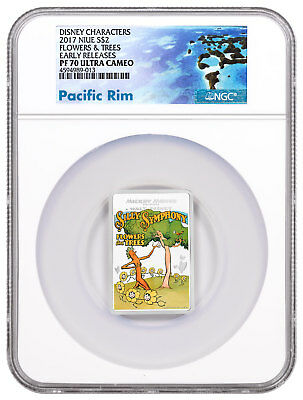 2017 Niue Disney Posters 1930s Flowers Trees 1 oz Silver NGC PF70 UC ER SKU48909