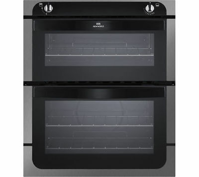 NEW WORLD NW701G Gas Built-under Oven - Black & Stainless Steel - Currys