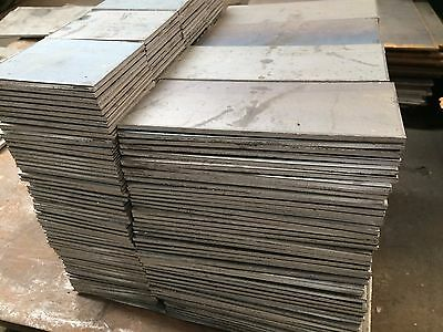 "3/8"" .375 HRO Steel Sheet Plate 6"" x 6"" Flat Bar A36  2 PIECES SET"