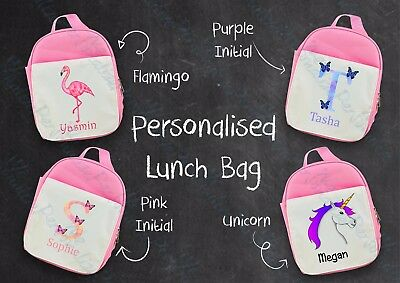 Back To School Lunch Box Lunch Bag Personalised Bag Cooler Girls snacks Children