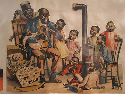 ANTIQUE 19th CENTURY AFRICAN AMERICAN BLACK AMERICANA TRADE CARDS SANTA CLAUS