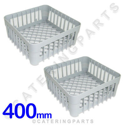 2 x 400mm x 400mm GLASSWASHER DISHWASHER OPEN GLASS CUP RACK BASKET IME OMNIWASH