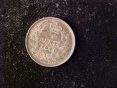 Canada 5 Cents 1891