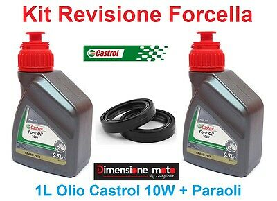 139 -Kit Castrol Fork Oil 10W + Paraoli Forcella KTM EXC 350 F Six Days dal 2010