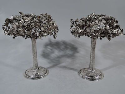 Antique Apple Trees - Centerpiece Pair - Joan Rivers Estate - German 800 Silver