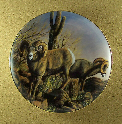 The Grand Slam DESERT BIGHORN Plate Trevor Swanson Ram Sheep Danbury Mint HTF