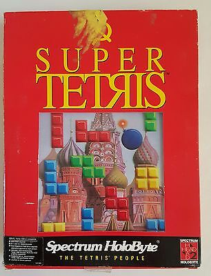"SUPER TETRIS Spectrum HoloByte 1991 IBM PC 3½"" and 5¼""  the sequel to Tetris"